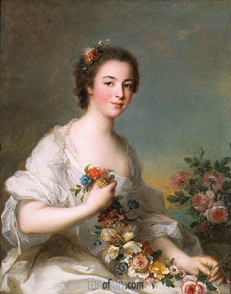 Portrait of a Lady, 1738 | Jean-Marc Nattier| Painting Reproduction