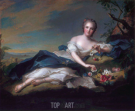 Portrait of Henrietta Maria of France as Flora, 1742 | Jean-Marc Nattier| Painting Reproduction