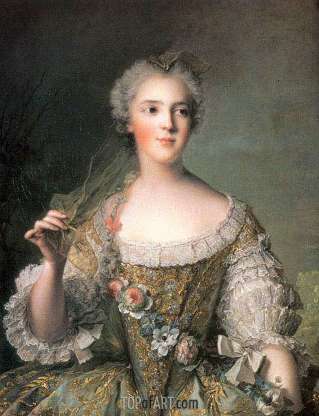 Portrait of Madame Sophie, daughter of Louis XV at Fontevrault, 1748 | Jean-Marc Nattier | Painting Reproduction