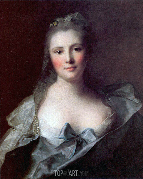 Portrait of Mademoiselle Marsollier, 1757 | Jean-Marc Nattier | Gemälde Reproduktion