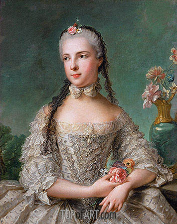 Princess Maria Isabella of Parma, 1758 | Jean-Marc Nattier| Painting Reproduction