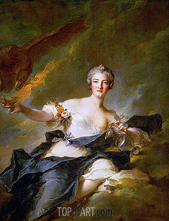 The Duchess of Chaulnes as Hebe, 1744 | Jean-Marc Nattier| Painting Reproduction