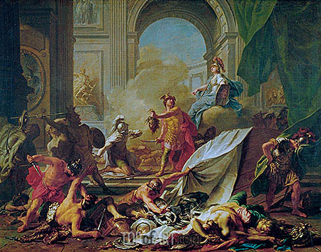 Perseus Petrifies Phineus and His Companions with the Head of Medusa, c.1700/25 | Jean-Marc Nattier | Painting Reproduction