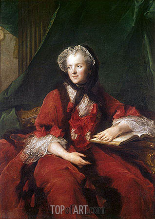 Portrait of Madame Maria Leszczynska, 1748 | Jean-Marc Nattier | Painting Reproduction