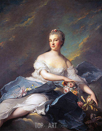 Elisabeth Rigoley d'Ogny as Aurora, 1752 | Jean-Marc Nattier | Painting Reproduction