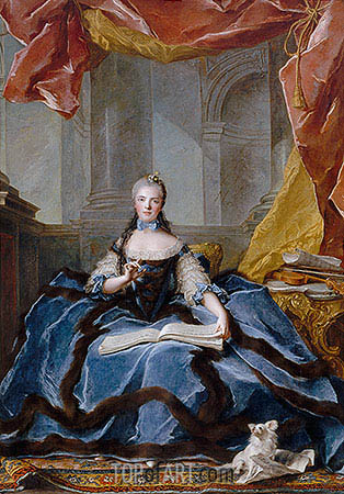 Marie-Adelaide of France, 1758 | Jean-Marc Nattier| Gemälde Reproduktion