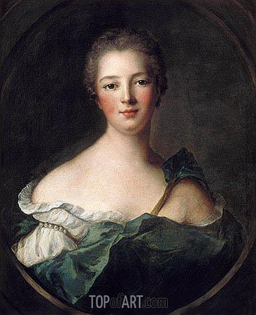 Jeanne-Antoinette Poisson, Marquise de Pompadour, c.1748 | Jean-Marc Nattier | Gemälde Reproduktion