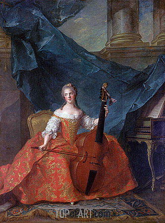 Anne-Henriette of France, 1754 | Jean-Marc Nattier| Gemälde Reproduktion