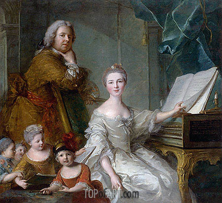 Jean-Marc Nattier and his Family, c.1730/62 | Jean-Marc Nattier | Gemälde Reproduktion