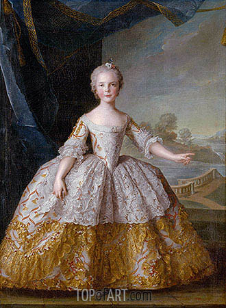 Isabelle of Parma as a Child, 1749 | Jean-Marc Nattier| Painting Reproduction