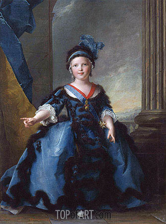 Louis-Joseph-Xavier of France, Duke of Burgundy, 1754 | Jean-Marc Nattier | Painting Reproduction