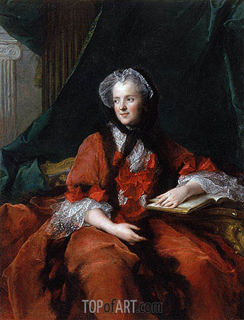 Marie Leczinska, Queen of France, 1748 | Jean-Marc Nattier | Gemälde Reproduktion