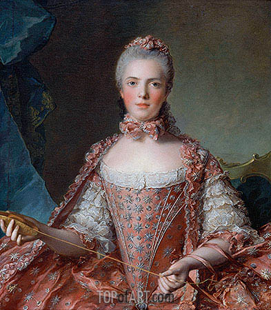Jean-Marc Nattier | Marie-Adelaide of France, 1756