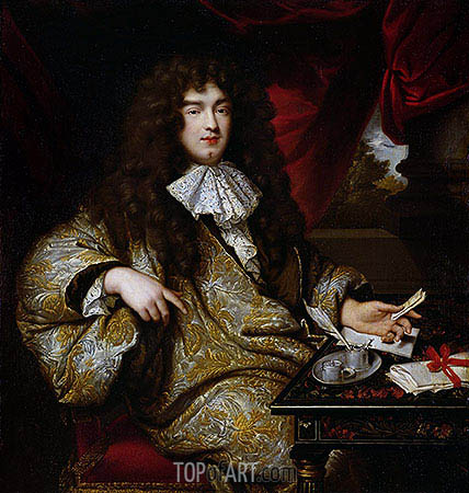 Jean-Baptiste Colbert Marquis de Seignelay, 1676 | Jean-Marc Nattier| Painting Reproduction