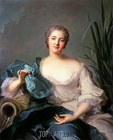 Madame Marie-Henriette Berthelot de Pleneuf, 1739 | Jean-Marc Nattier | Gemälde Reproduktion