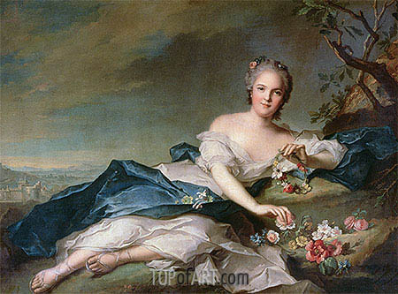 Jean-Marc Nattier | Henrietta Maria of France as Flora, 1742