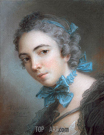 Young Girl, 1744 | Jean-Marc Nattier | Gemälde Reproduktion