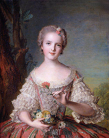 Portrait of Madame Louise de France at Fontevrault, 1748 | Jean-Marc Nattier | Gemälde Reproduktion