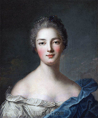 Portrait of a Lady, c.1750 | Jean-Marc Nattier| Painting Reproduction