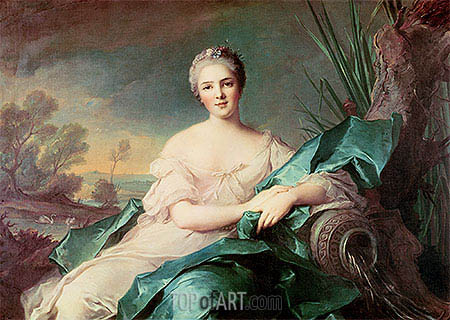 Victoire de France as the Element of Water, c.1750/51 | Jean-Marc Nattier| Painting Reproduction
