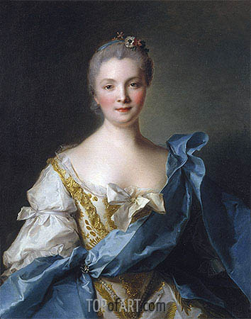 Madame de la Porte, 1754 | Jean-Marc Nattier| Painting Reproduction