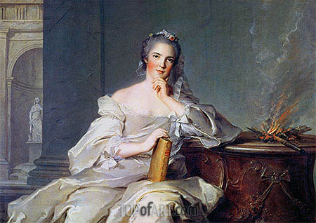 Anne-Henriette de France as the Element of Fire, c.1750/51 | Jean-Marc Nattier| Painting Reproduction