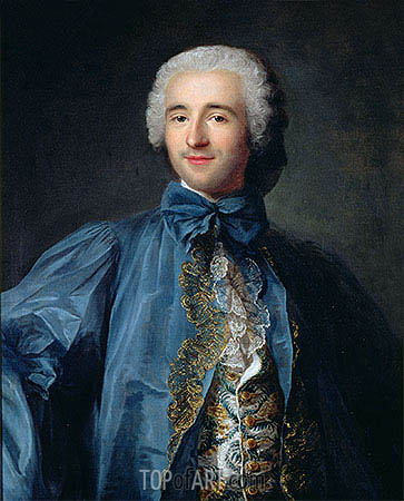 Jean-Marc Nattier | Portrait of a Gentleman in a Blue Coat, undated