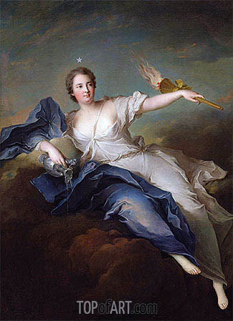 Portrait of Marie-Anne de Mailly-Nesle Marquise of La Tournelle as Eos, a.1740 | Jean-Marc Nattier| Painting Reproduction