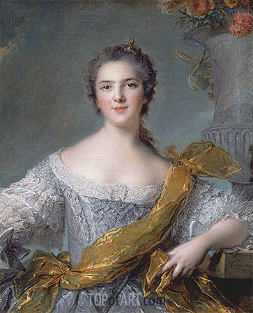 Jean-Marc Nattier | Victoire de France at Fontevrault, 1748