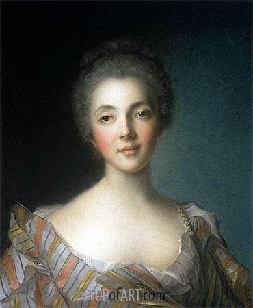 Portrait of Madame Dupin, undated | Jean-Marc Nattier | Painting Reproduction