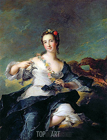 Portrait of a Young Woman as Hebe, undated | Jean-Marc Nattier| Painting Reproduction