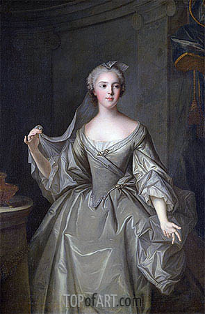 Madame Sophie de France as a Vestal Virgin, undated | Jean-Marc Nattier| Painting Reproduction