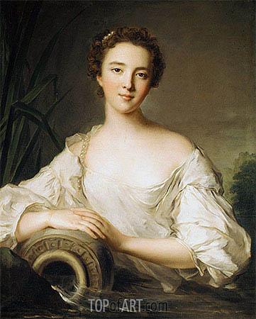 Louise Henriette de Bourbon-Conti, Later Duchesse d'Orléans, 1738 | Jean-Marc Nattier | Gemälde Reproduktion