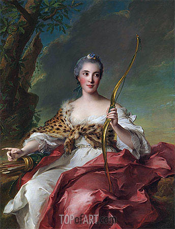 Madame de Maison-Rouge as Diana, 1756 | Jean-Marc Nattier | Painting Reproduction