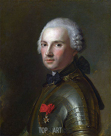 Portrait of a Man in Armour, c.1750 | Jean-Marc Nattier | Painting Reproduction