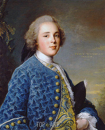 Portrait of Percy Wyndham O'Brien, 1744 | Jean-Marc Nattier | Painting Reproduction