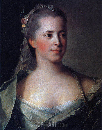 Portrait of Princess Ekaterina Golitsyna, 1757 | Jean-Marc Nattier | Gemälde Reproduktion