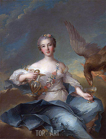 The Duchesse de Chartres as Hebe, undated | Jean-Marc Nattier | Gemälde Reproduktion