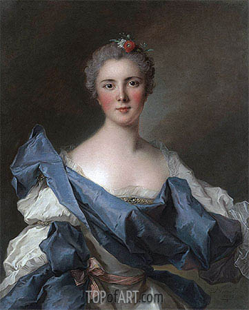 Portrait of the Comtesse d'Andlau, 1743 | Jean-Marc Nattier| Painting Reproduction