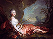 Portrait of Maria Adelaide of France dressed as Diana, daughter of Louis XV | Jean-Marc Nattier