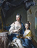 Madame Marsollier and Her Daughter | Jean-Marc Nattier