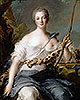 Jeanne-Antoinette Poisson, Marquise de Pompadour as Diana the Huntress | Jean-Marc Nattier