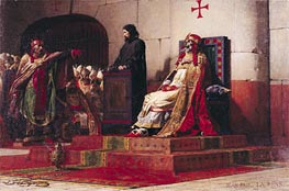 Pope Formosus (816-896) and Pope Stephen VII in 897, 1870 von Jean-Paul Laurens | Gemälde-Reproduktion