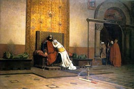 The Excommunication of Robert the Pious, 1875 by Jean-Paul Laurens | Painting Reproduction