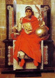 The Byzantine Emperor Honorius, 1880 by Jean-Paul Laurens | Painting Reproduction