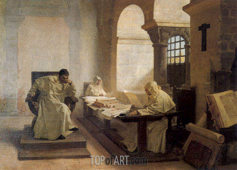 Men of the Holy Office, 1889 | Jean-Paul Laurens | Painting Reproduction