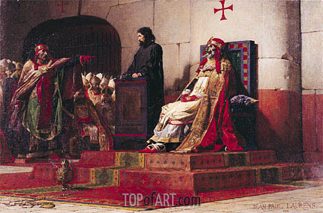 Pope Formosus (816-896) and Pope Stephen VII in 897, 1870 | Jean-Paul Laurens | Gemälde Reproduktion