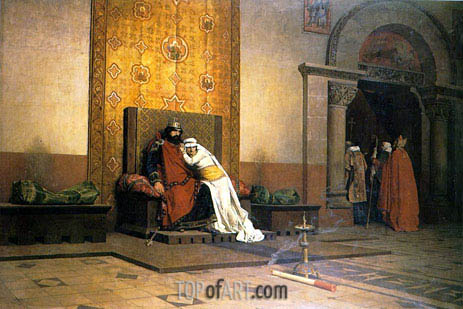 The Excommunication of Robert the Pious, 1875 | Jean-Paul Laurens | Painting Reproduction