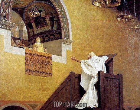 Jean-Paul Laurens | Saint John Chrysostom and Empress Eudoxie, 1893
