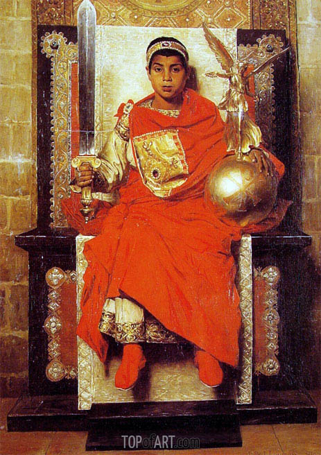 The Byzantine Emperor Honorius, 1880 | Jean-Paul Laurens | Painting Reproduction